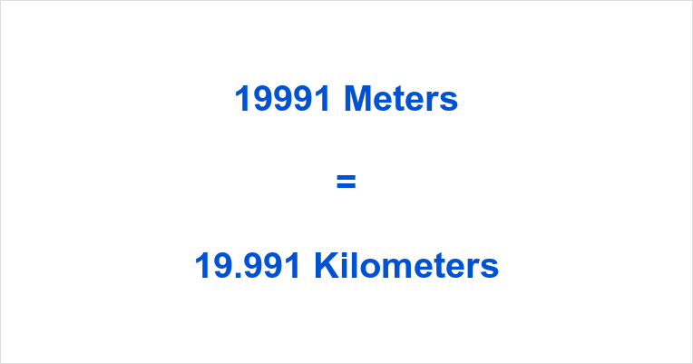 19991 m to km