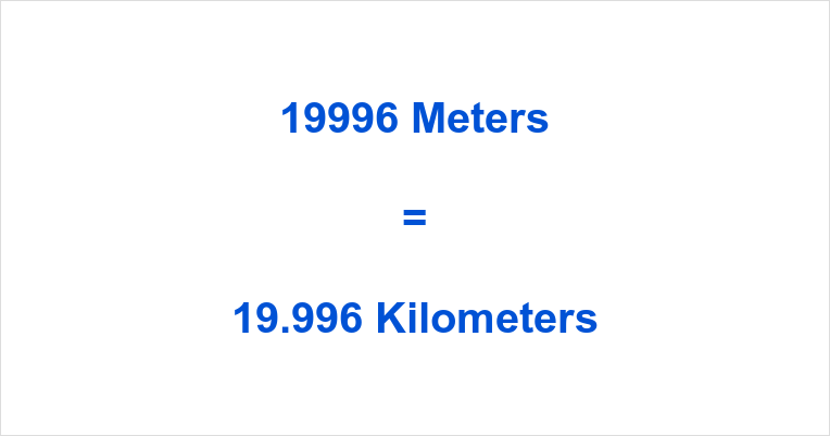 19996 m to km