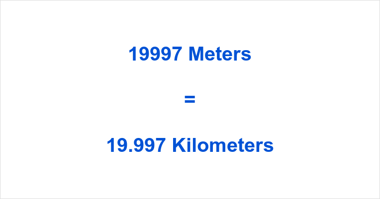 19997 m to km