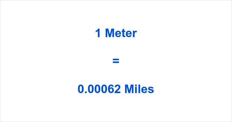 1 Meter to Miles