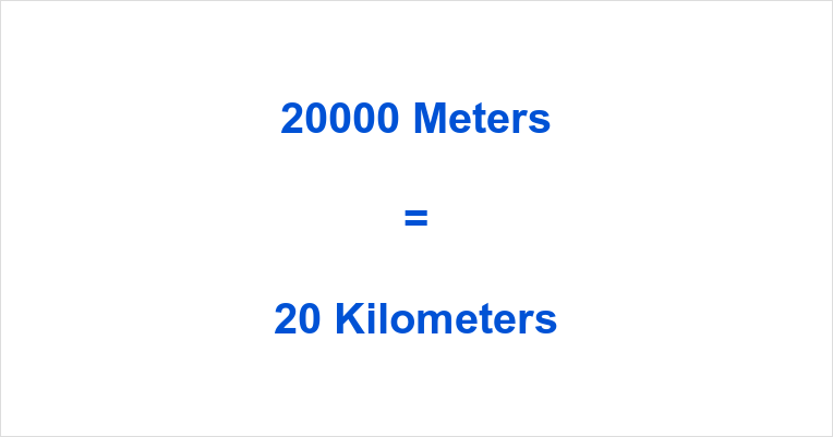 20000 m to km