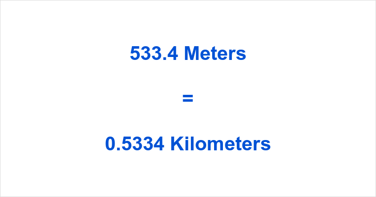 533.4 m to km